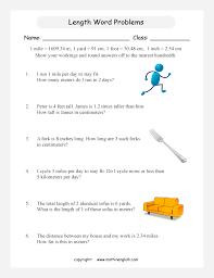 measurement word problems worksheets free worksheets library