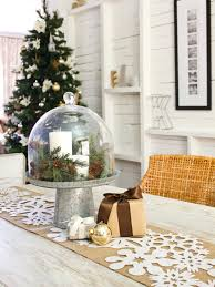 snowflake table top decorations cool christmas table decoration love the rustic use of tin pail and
