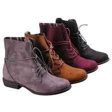 s boots lace betani s faux suede lace up block heel combat ankle booties