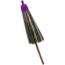mardi gras umbrella 19 glitter mardi gras paper umbrella hg3056dl mardigrasoutlet