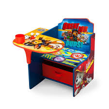 Kids Table And Chairs With Storage Delta Children Nick Jr Paw Patrol Kids Desk Chair With Storage