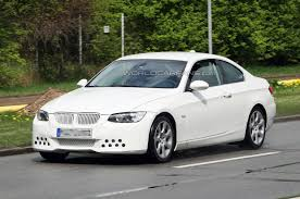 bmw series 3 white bmw 3 series coupe facelift spied in all white