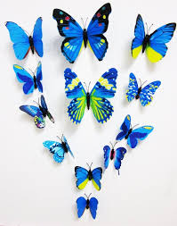 handsome stickers product 3d butterfly 12pcs wall stickers