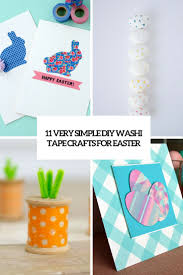 11 very easy diy washi tape crafts for easter shelterness