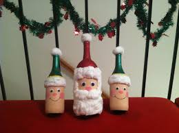 santa and elves wine bottle diy craft home decor pinterest