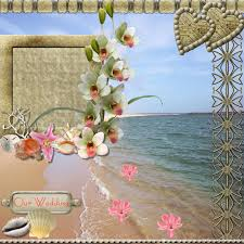 Wedding Scrapbook Page Beach Wedding Qp Digital Scrapbooking At Scrapbook Flair