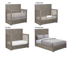 Bassett Convertible Crib Bassett Dreams Everest 4 In 1 Convertible Storage Crib Smokey Grey