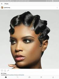 black soft wave hair styles finger waves pinteres