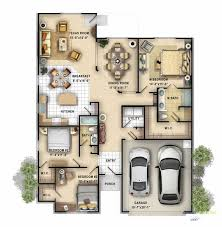 3d floor plan services 2d color floor plan of a single family 1 story home created for a