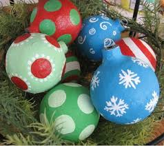 paper mache ornaments allfreechristmascrafts