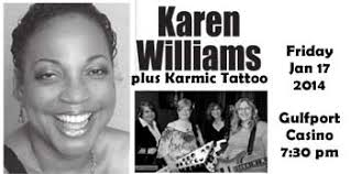 comedian karen williams plus karmic tattoo at the gulfport casino