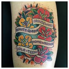 i wanted a traditional tattoo with these lyrics by marina and the