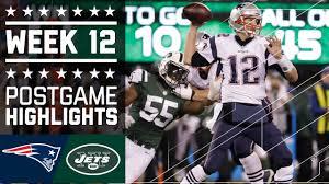patriots vs jets nfl week 12 highlights