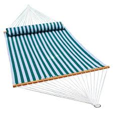 algoma 13 ft quilted reversible hammock in blue stripe with