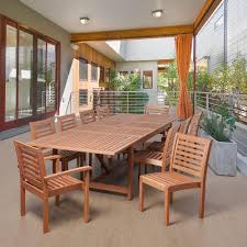 amazonia turner 11 piece eucalyptus extendable rectangular patio