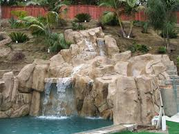 artificial rock waterfalls landscapes u0026 swimm