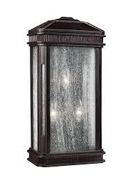 outdoor flush mount wall light ol10802gbz 3 light outdoor sconce gilded bronze