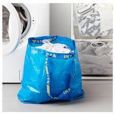 Ikea Hay Bag Amazon Com 2 Ikea Frakta Shopping Bags 10 Gal Blue Tote Multi