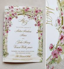 Invitation Card Size Designs Elegant Japanese Cherry Blossom Wedding Invitations With