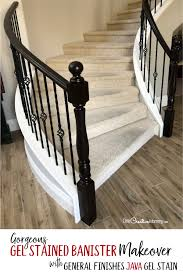 how much gel stain do i need for kitchen cabinets gorgeous java gel stain staircase makeover