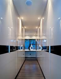 Hallway Lighting Ideas by Gray Round Fur Rug On Wooden Floor Hallway Wall Ideas Gray