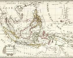 netherlands east indies map east indies map etsy