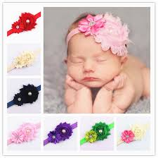 toddler hair accessories headband baby shabby flower headband kids wear newborn