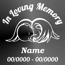 jeep silhouette memorial decal sticker cut vinyl car truck jeep baby angel car