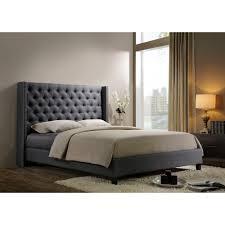 King Upholstered Bed Frame Blenheim Brown Fabric Upholstered Bed Frame Double King Size