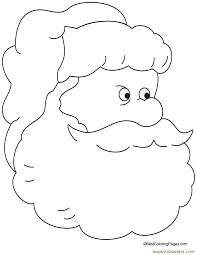 santa coloring pages printable kids christmas