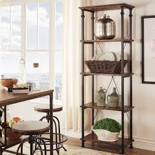 myra vintage industrial modern rustic bookcase by inspire q