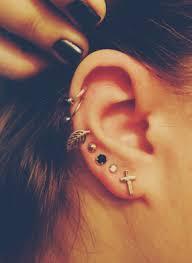 hoop cartilage earrings leaf and hoop cartilage earrings on the hunt
