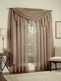 Sheer Curtains With Valance Sheer Drapes And Curtains Reverie Snow Voile Sheer Curtains