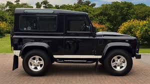 land rover defender black used land rover defender 90 swb diesel xs station wagon tdci 2 2