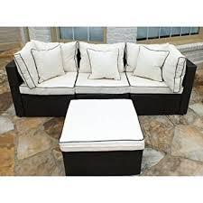 Amazoncom  JJ International F Wicker Sofa Set Beige  Patio - Wicker sofa sets
