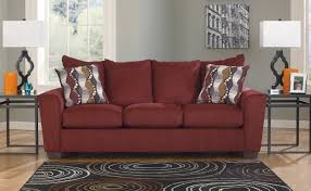 fresh amazing burgundy leather sofa ashley 14750