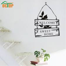 online get cheap welcome home vinyl sticker aliexpress com welcome sweet home wall stickers door decorative hang stickers for wall vinyl wall decals china