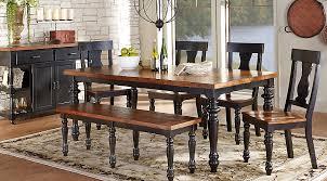 cottage dining table set amusing hillside cottage black 5 pc dining room sets on table