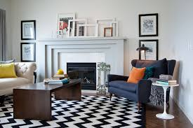 herringbone wood floor living room transitional with black and