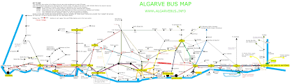 Southwest Route Map Bus And Train Map For The Algarve