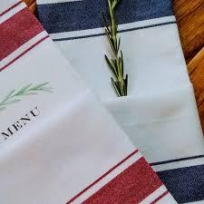 serviette cuisine serviette de cuisine ligne bleue serviette de cuisine en coton avec