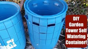 diy self watering container using a 55 gal barrel garden tower