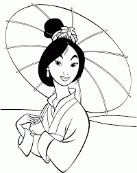 mulan book coloring