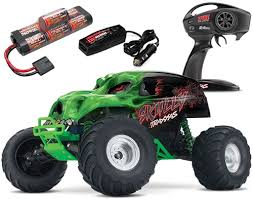 traxxas skully 2wd rtr rc monster truck battery u0026 quick charger