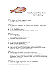study guide for final exam marine biology