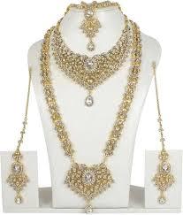 bridal necklace set gold images Muchmore indian ethnic gorgeous design kundan made bridal necklace jpeg