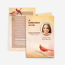 funeral card cardinal funeral card funeral phlets