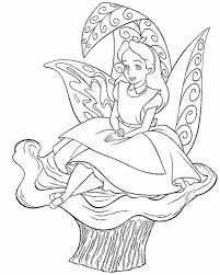 alice sitting stone wonderland coloring disney