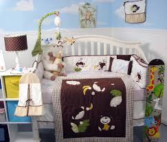 Baby Boy Bedding Sets Amazon Com Soho Monkey Business Baby Crib Nursery Bedding Set 13