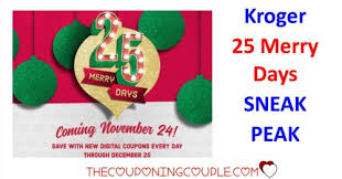kroger 25 merry days starting november 24th sneak peak